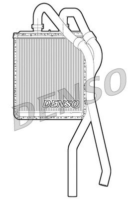 Wärmetauscher, Innenraumheizung DENSO DRR12020
