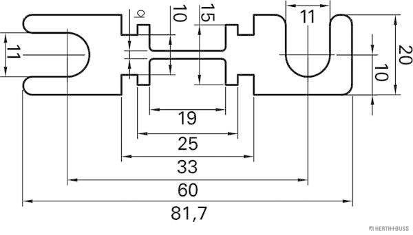 Sicherung HERTH+BUSS ELPARTS 50295283 Bild 2