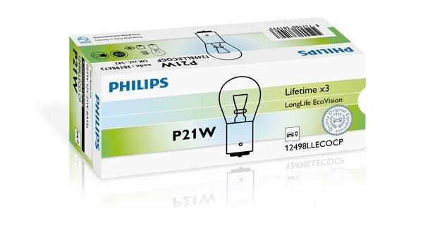 Glühlampe, Blinkleuchte 12 V PHILIPS 12498LLECOCP