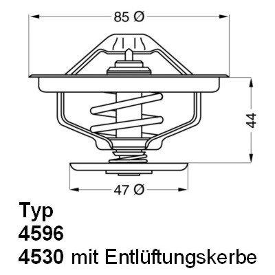 Thermostat, Kühlmittel WAHLER 410758.83D