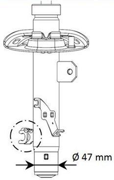 Stoßdämpfer Vorderachse rechts KYB 339800 Bild 2
