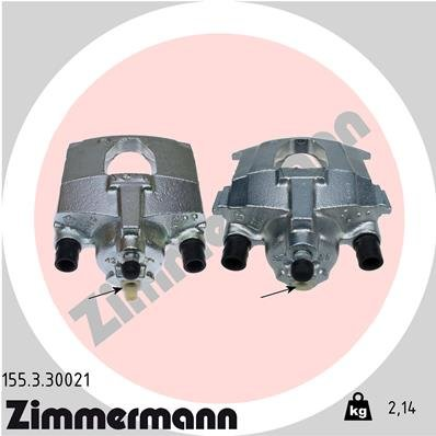 Bremssattel Hinterachse links ZIMMERMANN 155.3.30021
