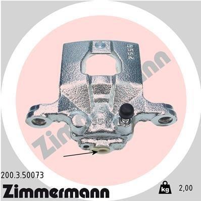Bremssattel Hinterachse links ZIMMERMANN 200.3.50073