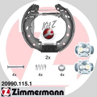 Bremsbackensatz ZIMMERMANN 20990.115.1
