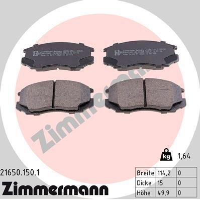 Bremsbelagsatz, Scheibenbremse ZIMMERMANN 21650.150.1