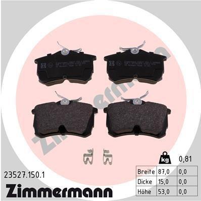 Bremsbelagsatz, Scheibenbremse ZIMMERMANN 23527.150.1