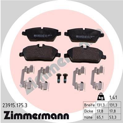 Bremsbelagsatz, Scheibenbremse ZIMMERMANN 23915.175.3