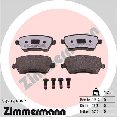 Bremsbelagsatz, Scheibenbremse ZIMMERMANN 23973.975.1