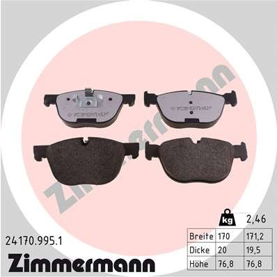 Bremsbelagsatz, Scheibenbremse ZIMMERMANN 24170.995.1