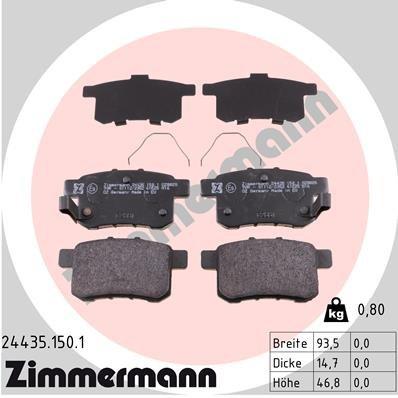 Bremsbelagsatz, Scheibenbremse ZIMMERMANN 24435.150.1