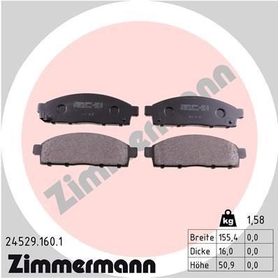 Bremsbelagsatz, Scheibenbremse ZIMMERMANN 24529.160.1