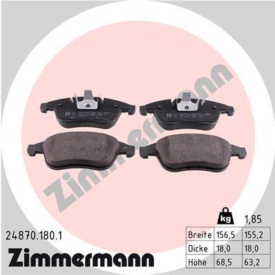 Bremsbelagsatz, Scheibenbremse ZIMMERMANN 24870.180.1