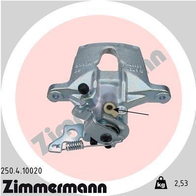 Bremssattel Hinterachse rechts ZIMMERMANN 250.4.10020
