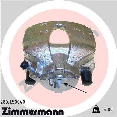 Bremssattel Vorderachse links ZIMMERMANN 280.1.50040