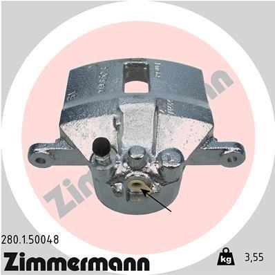Bremssattel Vorderachse links ZIMMERMANN 280.1.50048