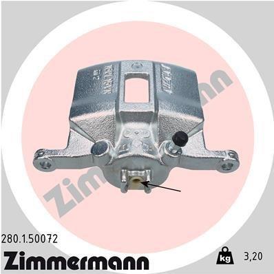 Bremssattel Vorderachse links ZIMMERMANN 280.1.50072