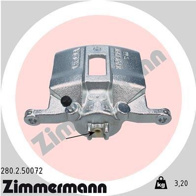 Bremssattel Vorderachse rechts ZIMMERMANN 280.2.50072