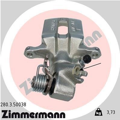 Bremssattel Hinterachse links ZIMMERMANN 280.3.50038