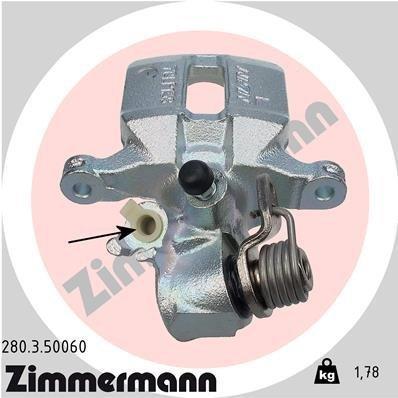 Bremssattel Hinterachse links ZIMMERMANN 280.3.50060