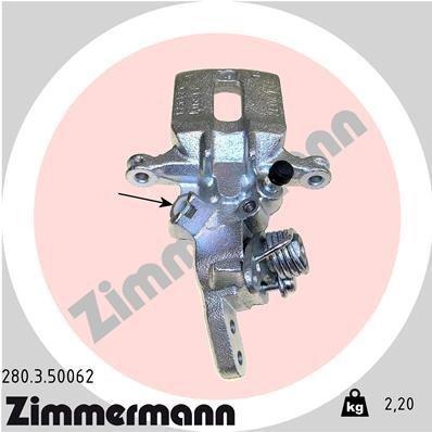 Bremssattel Hinterachse links ZIMMERMANN 280.3.50062
