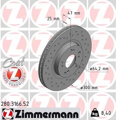 Bremsscheibe ZIMMERMANN 280.3166.52