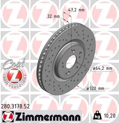 Bremsscheibe ZIMMERMANN 280.3178.52