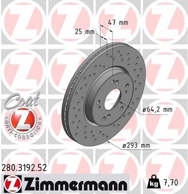 Bremsscheibe ZIMMERMANN 280.3192.52
