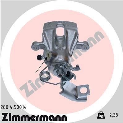 Bremssattel Hinterachse rechts ZIMMERMANN 280.4.50014