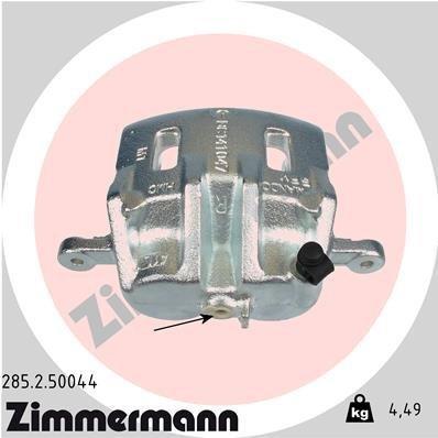 Bremssattel Vorderachse rechts ZIMMERMANN 285.2.50044