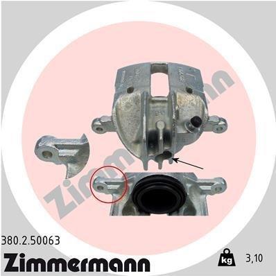 Bremssattel Vorderachse rechts ZIMMERMANN 380.2.50063