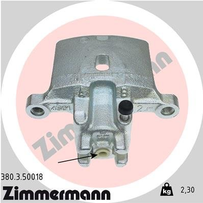 Bremssattel Hinterachse links ZIMMERMANN 380.3.50018