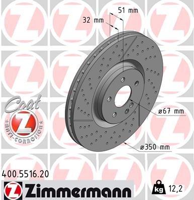 Bremsscheibe ZIMMERMANN 400.5516.20