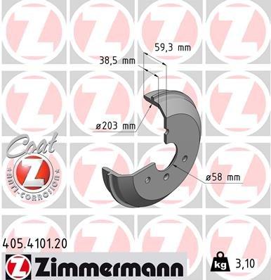 Bremstrommel ZIMMERMANN 405.4101.20