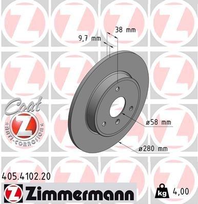 Bremsscheibe ZIMMERMANN 405.4102.20