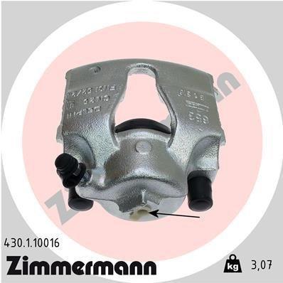 Bremssattel Vorderachse links ZIMMERMANN 430.1.10016