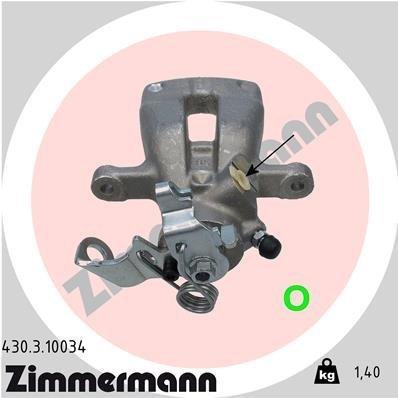 Bremssattel Hinterachse links ZIMMERMANN 430.3.10034