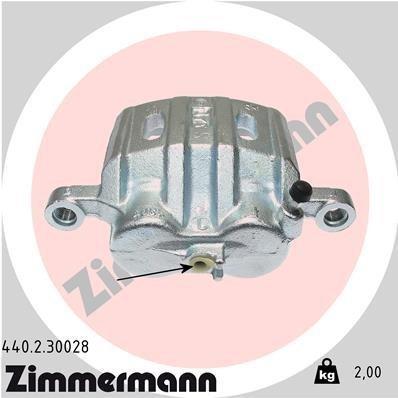 Bremssattel Vorderachse rechts ZIMMERMANN 440.2.30028