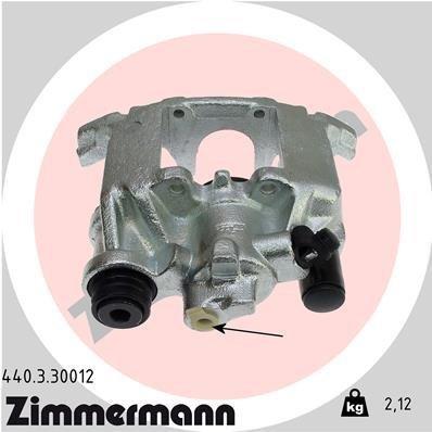 Bremssattel Hinterachse links ZIMMERMANN 440.3.30012