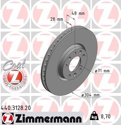 Bremsscheibe ZIMMERMANN 440.3128.20