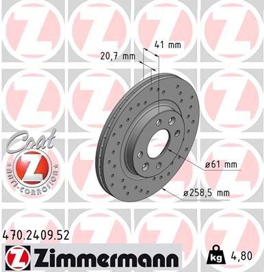 Bremsscheibe ZIMMERMANN 470.2409.52