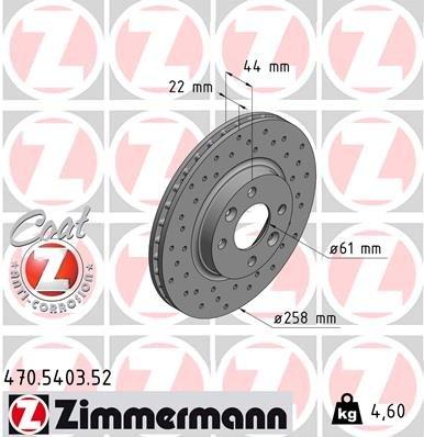 Bremsscheibe ZIMMERMANN 470.5403.52