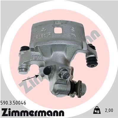 Bremssattel Hinterachse links ZIMMERMANN 590.3.50046