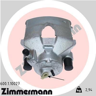 Bremssattel Vorderachse links ZIMMERMANN 600.1.10027