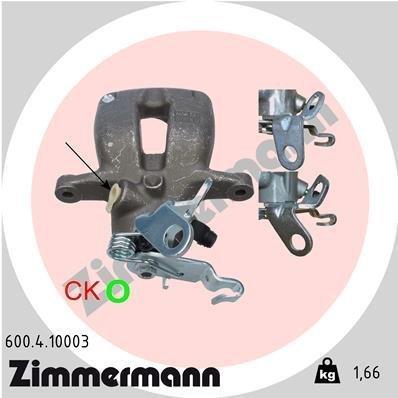 Bremssattel Hinterachse rechts ZIMMERMANN 600.4.10003