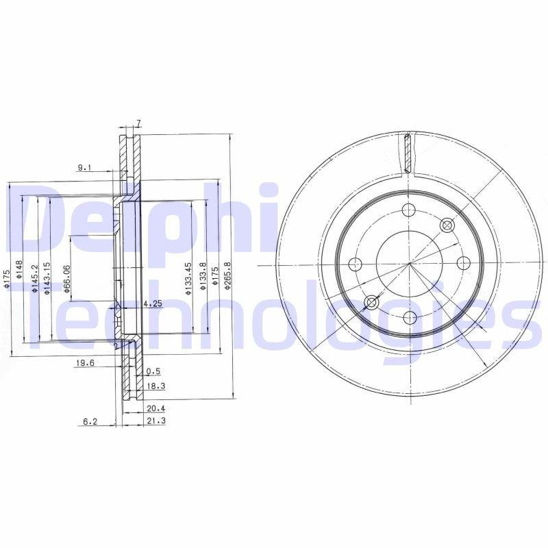 Bremsscheibe DELPHI BG2387C