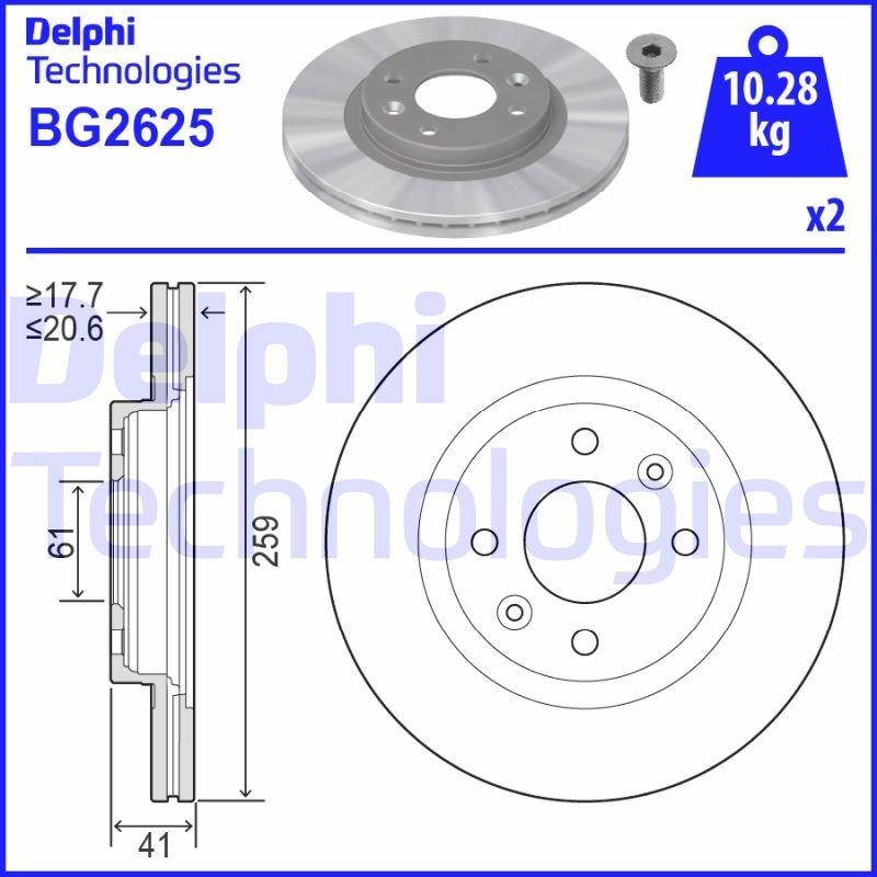 Bremsscheibe DELPHI BG2625