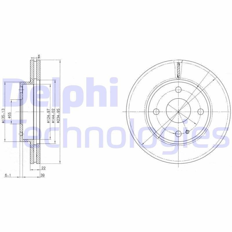 Bremsscheibe DELPHI BG2629