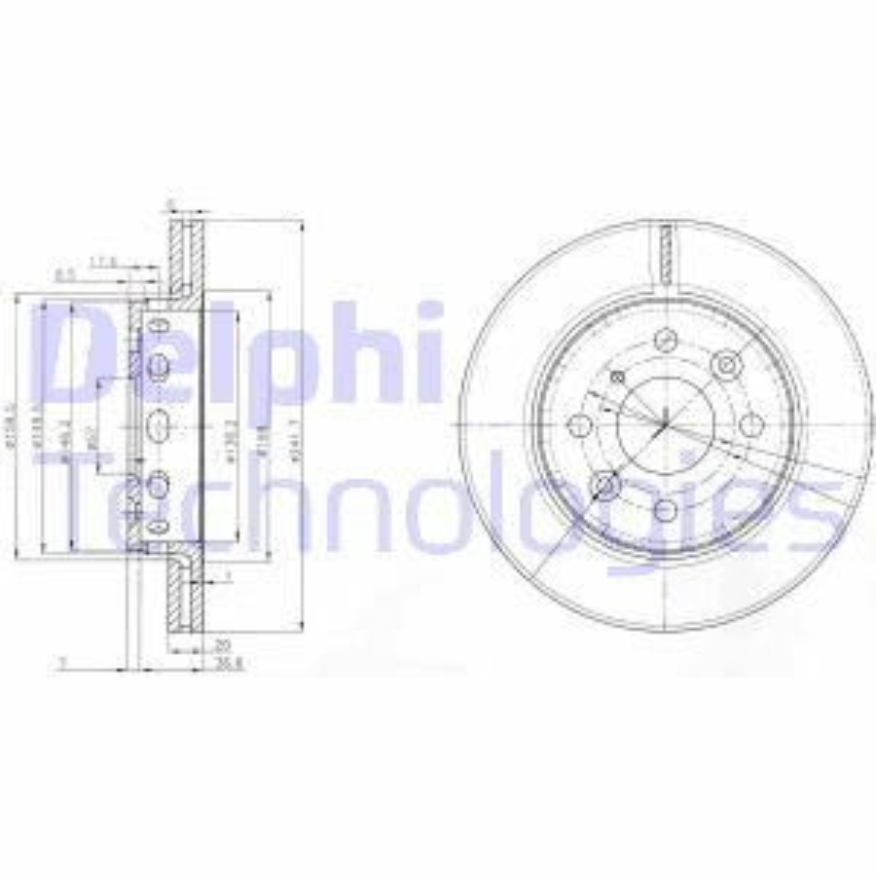 Bremsscheibe DELPHI BG3074 Bild 1