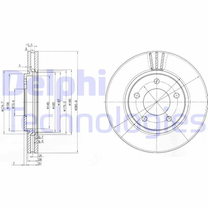 Bremsscheibe DELPHI BG3715