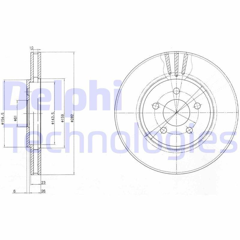Bremsscheibe DELPHI BG4000